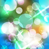 Blurred background with bokeh. Vector illustration Stock Photography