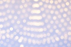 Blurred background with burning yellow garland. There is a place for text stock image