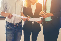 Blurred background Business Team Conversion Talking about work a Royalty Free Stock Photo