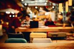 Blurred background in cafe royalty free stock photography