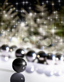 Blurred Background christmas tree with balls Stock Images
