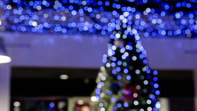 Blurred background of Christmas tree stock video footage