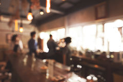 Blurred background of Coffee shop Royalty Free Stock Photo