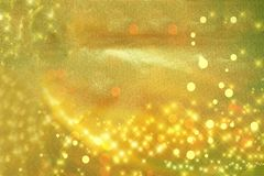 Blurred background with different shades of green orange with highlights stars royalty free stock photo