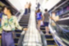 Blurred background of escalator Stock Images