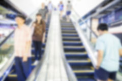 Blurred background of escalator Stock Image