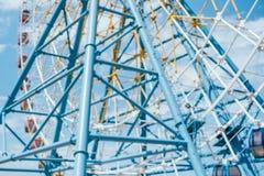 Blurred background of ferris wheel stock photo