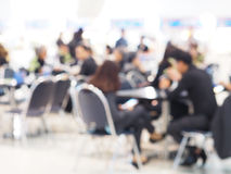 Blurred background of food court with people Royalty Free Stock Photography