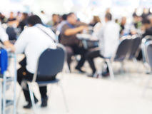 Blurred background of food court with people Stock Images