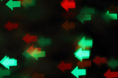 Blurred background. Green and red. Blurred background with green and red lights on black Royalty Free Stock Photography