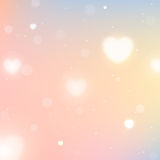 Blurred background with hearts for St. Valentine's Day. Abstract vector illustration for your design Royalty Free Stock Images