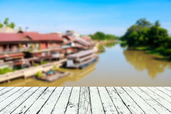 Blurred background image of countryside in Thailand Stock Photos