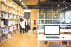 Blurred background of  library Stock Images