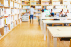 Blurred background of library Stock Photo