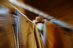 Blurred background of luxury man coat Royalty Free Stock Photos