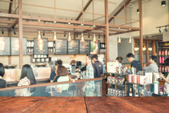 Blurred background made with Vintage Tones,Coffee shop blur back Stock Photo