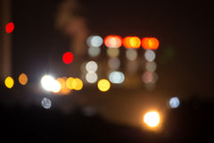 Blurred background - night neon lights royalty free stock photos