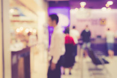 Blurred background : People in the bank Royalty Free Stock Photos