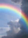 Blurred Background Rainbow Couds Stock Photography