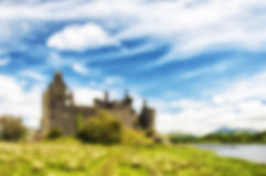 Blurred Background Scottish Ruins Stock Image