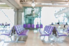 Blurred background of seat row around boarding gate in Airport. Stock Photography