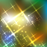 Blurred background with sparks. Vector illustration Royalty Free Stock Photos