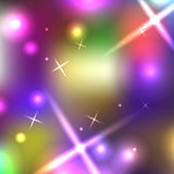 Blurred background with sparks. Vector illustration Royalty Free Stock Photo