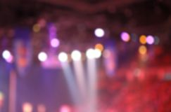 Blurred background of Stage lights on a concert.  stock photos