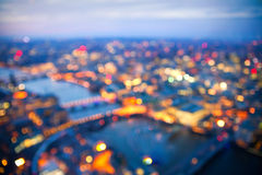 Blurred background of sunset in London, Aerial view. Blur background. Sunset at London Royalty Free Stock Photo