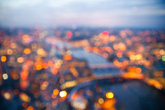 Blurred background of sunset in London, Aerial view. Blur background. Sunset at London Royalty Free Stock Images