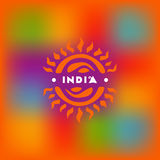 Blurred background and symbolic of the sun in the Indian style Stock Photos