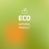 Blurred background on the theme of ecology and icon with symboli. C apple Stock Image