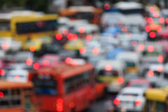 Blurred background of traffic jam. Royalty Free Stock Images