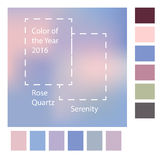 Blurred background with trendy colors of the year 2016 Rose Quartz and Serenity.Vector illustration. Fashion infographic royalty free illustration