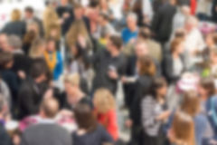 Blurred background of unrecognizable people. At a social event Royalty Free Stock Image