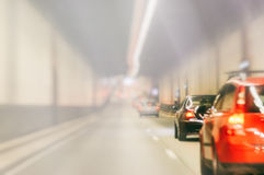 Blurred background with urban tunnel Stock Image