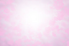 Blurred background Valentine's card Pink and white wallpaper. Sweet colors and pastel shades. Royalty Free Stock Photography