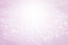 Blurred background Valentine's card Pink and white wallpaper. Sweet colors and pastel shades. Royalty Free Stock Photo
