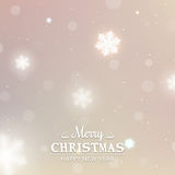 Blurred background with winter labels Royalty Free Stock Photos