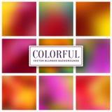 Blurred colorful backgrounds. Vector set. Blurred backgrounds. Abstract colorful cards with copy space for your design. Vector set vector illustration
