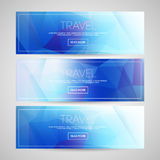 Blurred banners set Stock Images