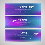 Blurred banners set Royalty Free Stock Photos