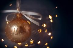Blurred bauble for christmas background royalty free stock photo