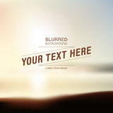 Blurred beach background with your text Royalty Free Stock Images