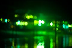 Blurred beach lights with bokeh effect Stock Images