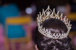 Blurred,Beautiful tiara on a head miss huahin in thailand. Blurred, Beautiful tiara on a head miss huahin in thailand Stock Images