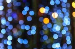 Blurred. Beautyfull defocused light  at night Stock Photos