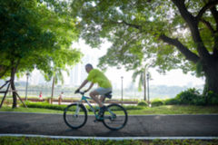 Blurred Bicycling Stock Image