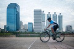 Blurred Bicycling Stock Images