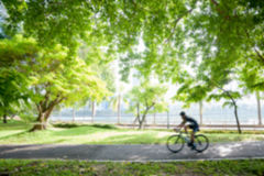 Blurred Bicycling Royalty Free Stock Images